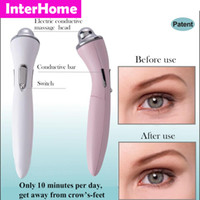 Wholesale New Family Bio Microcurrent Eye Elf Beauty Machine Remove Eye Crow s feet Wrinkles Black Rim Pouch and Skin pigmentation Eye Beauty Massager