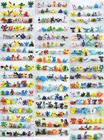288 Estilo del empuje Pokémon ir Figuras Juguetes de 2-3 cm multicolor Los niños de dibujos animados Pikachu Charizard Eevee Bulbasaur PVC Mini juguete de modelo B001