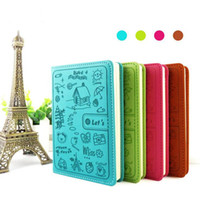 Wholesale Faux Leather Candy color colorful cartoon diary can be customized Office Supplier Many Colors For ChoosingTPN032