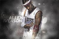 basketball the post - THE ANSWER Allen Iverson MVP Basketball Art Silk poster quot x36 quot inch