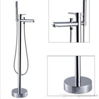Wholesale Floor standing bathtub faucet set shower floor shower set