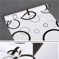 papeles de pared impreso crculo floral papel pintado para sala de estar dormitorio sof de tv fondo decoracin para el hogar
