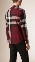 oxford shirts - Spring New Mens Modal Oxford Plaid Shirt Long sleeve Button down Collar Regular fit Mens Comfort Soft Casual Dress Shirts