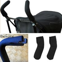 Wholesale 2Pcs Elasticity Neoprene Infant Stroller Umbrella Stroller Double Bar Grip Handle Sleeve Cover Protector New