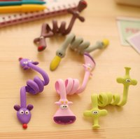 animal earphones - Cute Animal Wrap Cable Wire Tidy Earphone Winder Organizer Holder for Headphone MP3 MP4 KB523