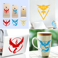 Wholesale Poke go team Sticker Instinc Mystic Valor camp Logo Cup Wall Car Stickers Pocket Monster Decal Film For iphone laptop PC samsung