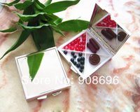 Wholesale 10PCS Square Pill Boxes Blank DIY Metal Pill Container Storage Box Compartments