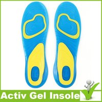 active foam - Custom Design Print Logo Foot Care insole NEW Velvet Active Everyday Gel Insoles For Men Gel Activ insole For Shoes Heel Knees Ankles