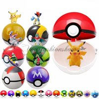 Wholesale Poke Ball cm Pokeball Free Random Mini Figure Model cm Cartoon Cute Anime Pocket Monster Pikachu Super Master Poke Ball Toys Z303