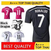 Wholesale 2014 Real Madrid Ronaldo Jersey Sergio Ramos Benzema Bale Jersey Kroos James Football soccer jersey football shirt camisetas de futbol