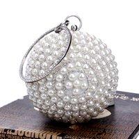 beaded purse handles - NEW Beaded circular diamonds women evening bags handle rhinestones purse evening bag for wedding bridal tote bag