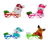 bear decorations - New design glass frame Xmas party decoration props Christmas ornament Santa Claus Reindeer snowman bear toys price