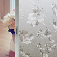 privacy window cling - Static Decorative Self Adhesive Window Film Frosted Vinyl No Glue Clings Stained Privacy Protection Glass Films