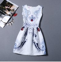 america offers - A New Special Offer Casual Dresses S Print Jacquard Dress Was Thin In Europe And America Mix Match Colors Sleeveless Vest Bottoming