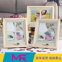 photo frame - 6 inch photo frame EU simple style design Russian Oaken picture frame or aperture rotatable stand picture frame