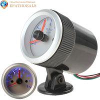 Wholesale 0 RPM Blue Light Auto Car Tachometer Tach Gauge Tacho meter with Holder Cup