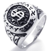 african dollars - Men s Popular L Stainless Steel Casting Currency USD Dollars Rings SZ