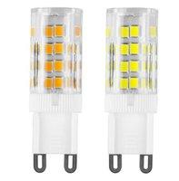 achat en gros de ampoules g4-Nouveau AC200-240V G9 G4 E14 4W 51LED Lampe à bulbe Mini céramique à la lumière de maïs SMD 2835 Chip Luz Bombillas Lampadas LED G9 Lampes à ampoules Éclairage