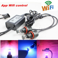 Wholesale Canbus multi color rgb phone Wifi controler rgb led angel eyes led marker h8 e92 for bmw BMW E60 E82 E87 E90 E91 E92 M3 E93 E92 free ship