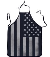 Wholesale Sexy Novelty Adult Vintage Kitchen Cooking Apron Muscle national flag pattern for men women gifts WT