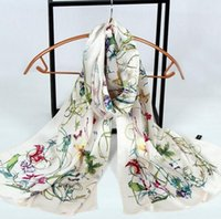 Wholesale 180 cm Fashion Silk Satin Scarf Real Silk Scarves Pure silk handkerchief Female