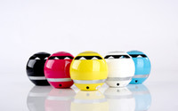 Wholesale High Quality Multifunctional GS009 Mini Ball Shaped Portable Bluetooth Wireless Stereo Handsfree Speaker with Blue LED Light Free DHL