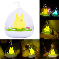 Wholesale Lovely Smart Home Illumination Cute Spiderwick Totoro Portable Touch Sensor USB LED Baby Kids Bedside Lamp Smart Home Electronics Free Ship
