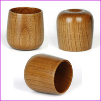 Wholesale x6 cm Handmade Wooden Natural Solid Wood Mug Tea Coffee Cup Wooden Beer Mug Milk Juice Drinkware