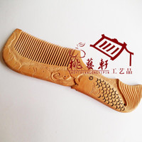 Wholesale Peach quot Moonlight quot version Niannian Youyu boutique hand carved wooden comb comb