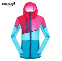 Wholesale Women Outdoor Sport Skin Camping Coat Ultra Thin Breathable Quick Drying Waterproof Clothes Fishing Hunting Hiking Jacket