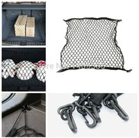 Wholesale Car boot string bag Elastic Nylon Car Rear Cargo Trunk Storage Organizer Net with SUV auto accessories H032