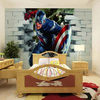 america entertainment - Captain America movie character D broken wall wallpaper in the background of the Hostel Trim tea bar KTV manufacturers direct delivery spe