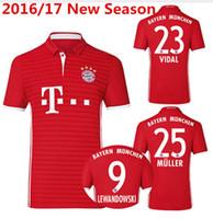 Wholesale Bayernes Soccer Jersey Season Thomas Muller Municherss Football Shirts Lewandowski Robben Vidal Gotze camisetas de futbol Maillot