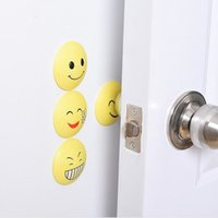 Wholesale Cute Emoji Door Stops Rubber Wall Sticker Protectors Handle Bumpers Buffer Guard Stoppers Crash Pad Doorknob Lock ZA1340