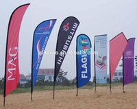 advertising car sale - Full color printing double side advertising flag flying banner beach flag feather falg Car wind banner country flags sale