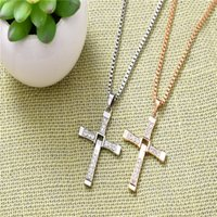 actor free - 2016 Manufacturers Selling International Edition Furious Actor Toledo Men s Cross Pendant Necklace