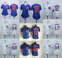 baseballs kyle - Womens Chicago Cubs Kyle Schwarber Chris Bryant Jake Arrieta Anthony Rizzo Stitched Cool Base Baseball Jerseys
