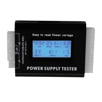 Wholesale Digital LCD PC Computer PC Power Supply Tester Pin SATA HDD Testers