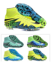 Wholesale 2016 New Hypervenom II Phantom Premium FG Men Football Shoes Cheap Soccer Shoes Men s Cleats Outdoor Soccer High Cleats Soccer Boots