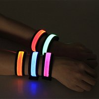 Wholesale LED Lighted Wristband Nocturnal Band Running Security Arm Band Fluorescence Switch Control Led Rave Wristband For Party