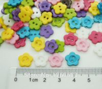 Wholesale 10 mm holes Random Mix Color Cute Flower Sewing Scrapbook Resin Buttons M66508 Buttons Cheap Buttons