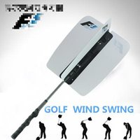 Wholesale New Golf Training Aids Golf Auxiliary Supplies Swing Rod Trainers Golf Practice Wind Fan White Orange Color