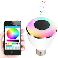 audio theatres - 2016 Newest Play bulb Smart LED Bulb Light Wireless Bluetooth Speaker V V E27 W Lamp Audio for Android ISO iPhone iPad