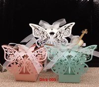 bamboo craft supplies - 2016 New Laser cut Butterfly Wedding favor box candy box gift box wedding favors event party supplies wedding decoration