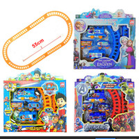 baby train sets - Frozen Spider Man Patrol Dog Kitty Train Track Electric Set Baby Educational Toys Splicing Rail Train Gift Kids Boys Toys Scale Models