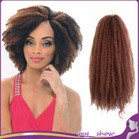 caterpillars - 8 Color X Afro Kinky Curly Marley Kanekalon Braiding Hair Senegalese Twist Crochet Synthetic Braids Caterpillar Hair Extension