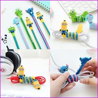 Wholesale Kawaii Cartoon Earphone Long Cable Winder Headphone Wire Cord Organizer Holder for Phone Tablet MP3 MP4 MP5