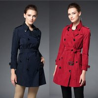 Wholesale 2016 Woman Trench Coat Antiwrinkling Polyester Lady Clothing Crease resist Designer Top Brand Fashion Woman Maxi Trench Overcoat BC1141