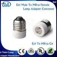 Ceramic e27 g4 adapter - E27 to G4 lamp socket adapter E27 to MR16 lamp holder adapter E27 to MR11 lamp converter