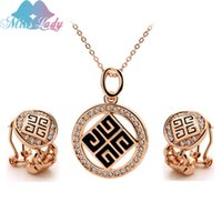 african women painting - 18K Rose Gold Plated oil painting chinese african bead costume Crystal Jewelry Sets for women MLY5449